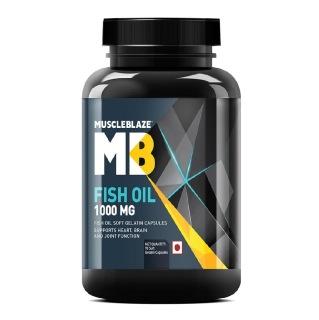 1 - MuscleBlaze Fish Oil (1000 mg),  90 softgels