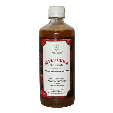 Vedic Delite Apple Cider Vinegar,  0.5 L  Unflavoured