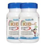 Healthvit Kid- C Kid's Vitamin C Chewable,  Unflavoured  60 Tablet(s)