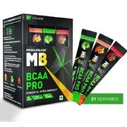 MuscleBlaze BCAA Pro,  21 sachets/pack  21 Servings  Watermelon, Fruit Splash & Green Apple
