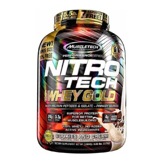 MuscleTech Nitrotech 100% Whey Gold,  5.53 lb  Cookies and Cream