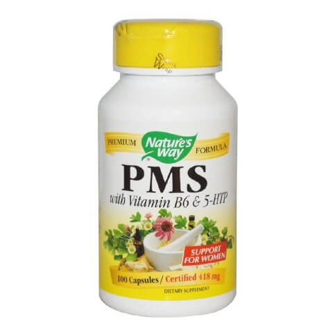 Nature's Way PMS with Vitamin B6 and 5-HTP,  100 capsules