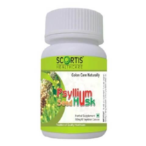 Scortis Psyllum Seed Husk,  60 veggie capsule(s)