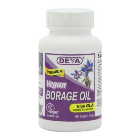 Deva Vegan Borage Oil (500mg),  90 veggie capsule(s)