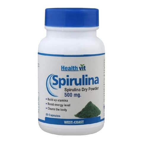 Healthvit Spirulina (500 mg),  60 capsules