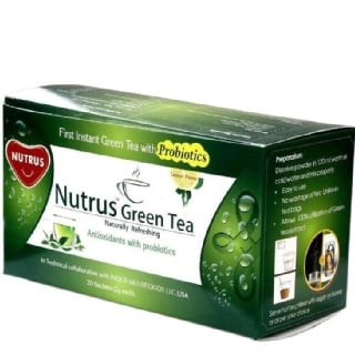 Nutrus Green Tea (Pack of 4),  20 sachets/pack  Lemon
