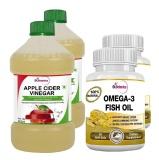 St.Botanica Omega 3 Fish Oil + Apple Cider Vinegar,  4 Piece(s)/Pack