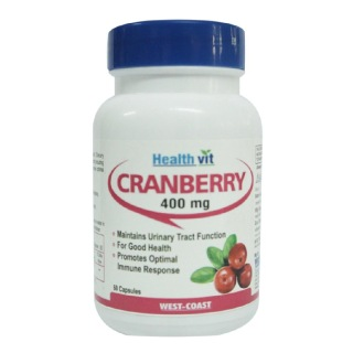 Healthvit Pure Cranberry Extract (400mg),  60 capsules