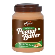 Alpino Peanut Butter (Unsweetened),  2.4 kg  Natural Crunch