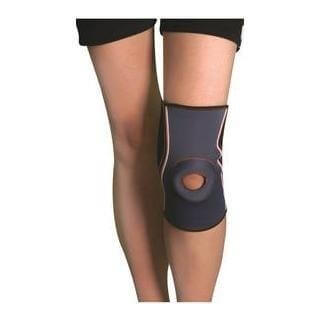B Fit USA Knee Support (2028),  Black , White & Orange  Free Size