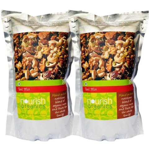 Nourish Organics Trail Mix (Pack of 2),  150 g  Unflavoured
