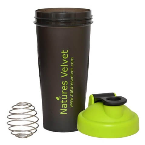 Natures Velvet Shaker,  Black with Ball  600 ml
