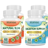 Morpheme Remedies Natural Slim + Digestion Support (Pack Of 2),  120 Veggie Capsule(s)  Unflavoured