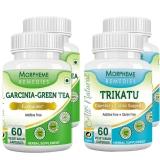 Morpheme Remedies Garcinia-Green Tea + Trikatu Capsules (2+2 Bottles),  120 Veggie Capsule(s)  Unflavoured