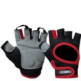 KOBO Gym Gloves (WTG-03),  Red & Black  Large