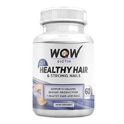 WOW Biotin Healthy Hair & Strong Nails,  Unflavoured  60 capsules