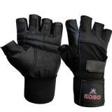 KOBO Leather Weight Lifting Gloves (3614),  Black  Large