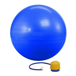 KOBO Anti-Burst Gym Ball With Foot Pump (GB-1-55),  Blue  55 cm