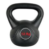 Universal Fitness Cement Kettlebell,  Black  12 Kg