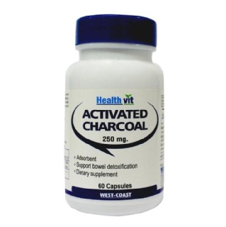 Healthvit Activated Charcoal 250mg,  60 capsules