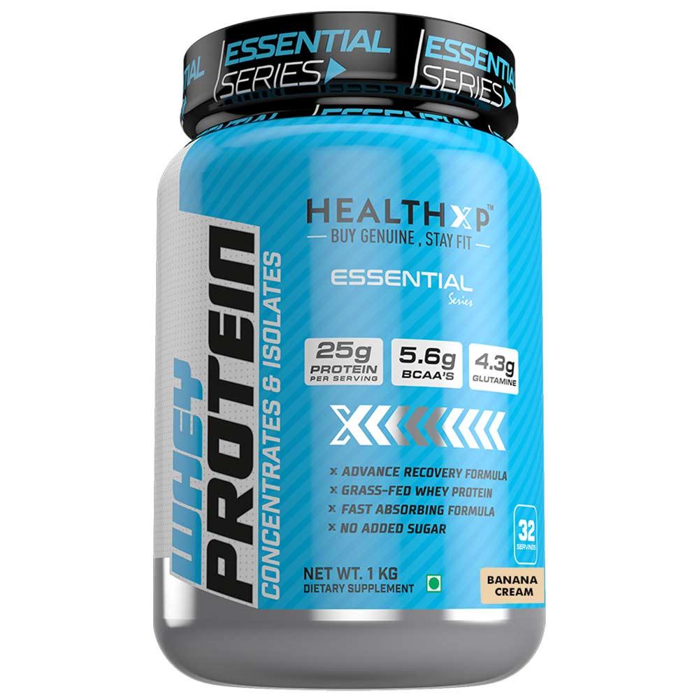 1 - HealthXP 100% Whey Protein,  2.2 lb  Banana Cream