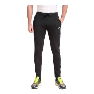 1 - Fitinc Men's Gym & Yoga Wear Stretchable Trackpant with Two Zipper Pockets,  Black  XXL