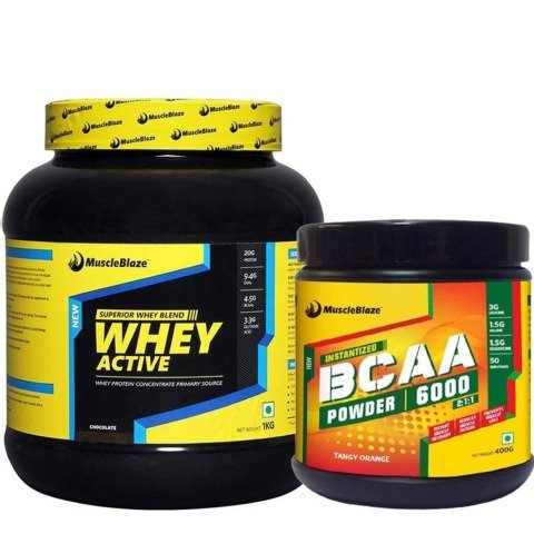 MuscleBlaze Whey + BCAA Stack (Whey Active)