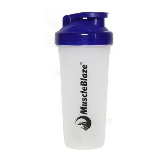 MuscleBlaze Best Chocolate Whey Shaker,  Blue  600 ml