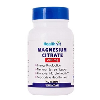 Healthvit Magnesium Citrate (200 mg),  Unflavoured  60 tablet(s)