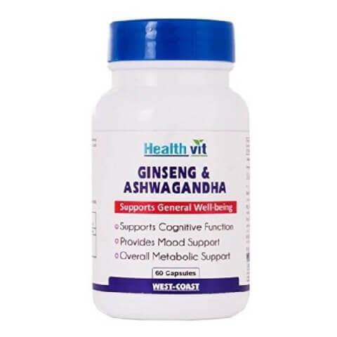 Healthvit Ginseng & Ashwagandha,  60 capsules