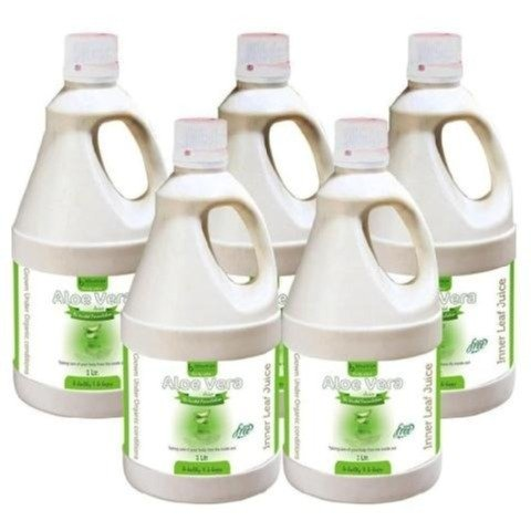 Bhumija Aloe Vera Juice,  Natural  1 L  - Pack of 5