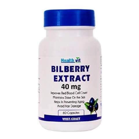 Healthvit Bilberry Extract (40 mg),  60 capsules