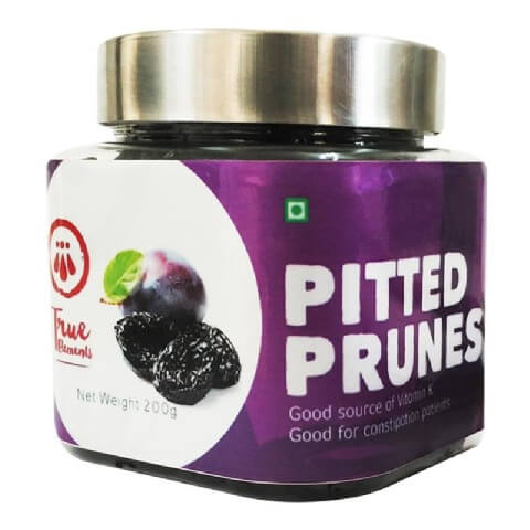 True Elements Pitted Prunes,  Natural  200 g