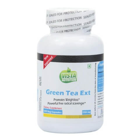 Vista Nutrition Green Tea Extract (250 mg),  100 capsules  Unflavoured