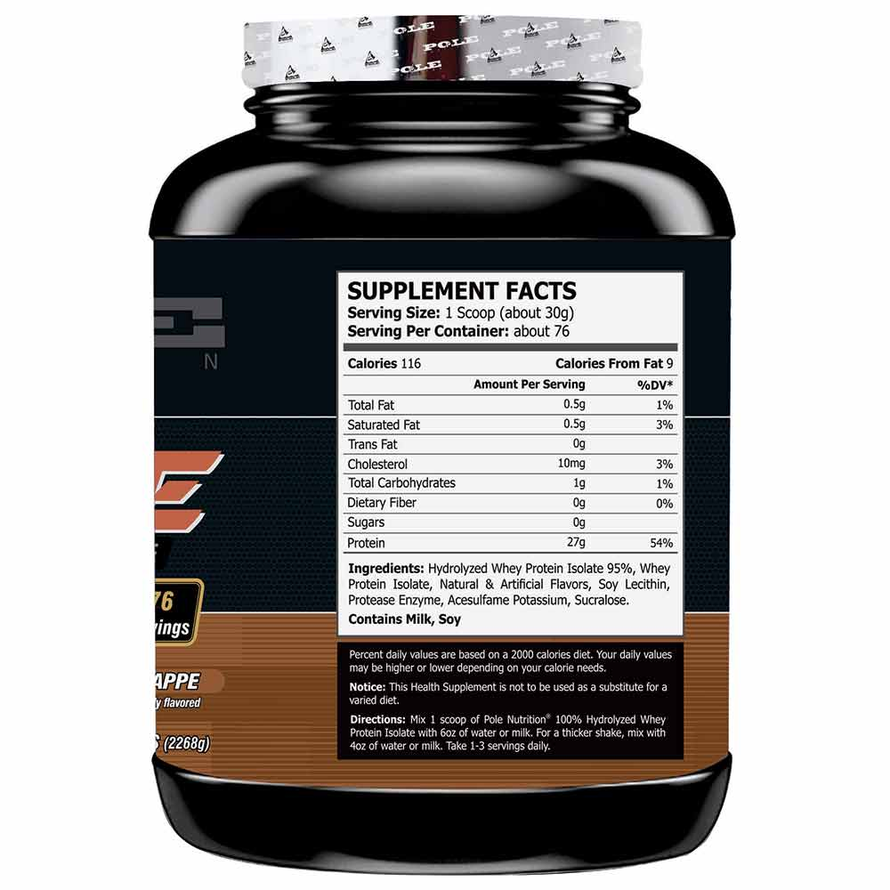 supplementinfo - Pole Nutrition Whey Protein Isolate,  5 lb  Mocha Frappe