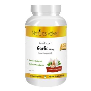 Natures Velvet Garlic Pure Extract (500 mg),  60 veggie capsule(s)