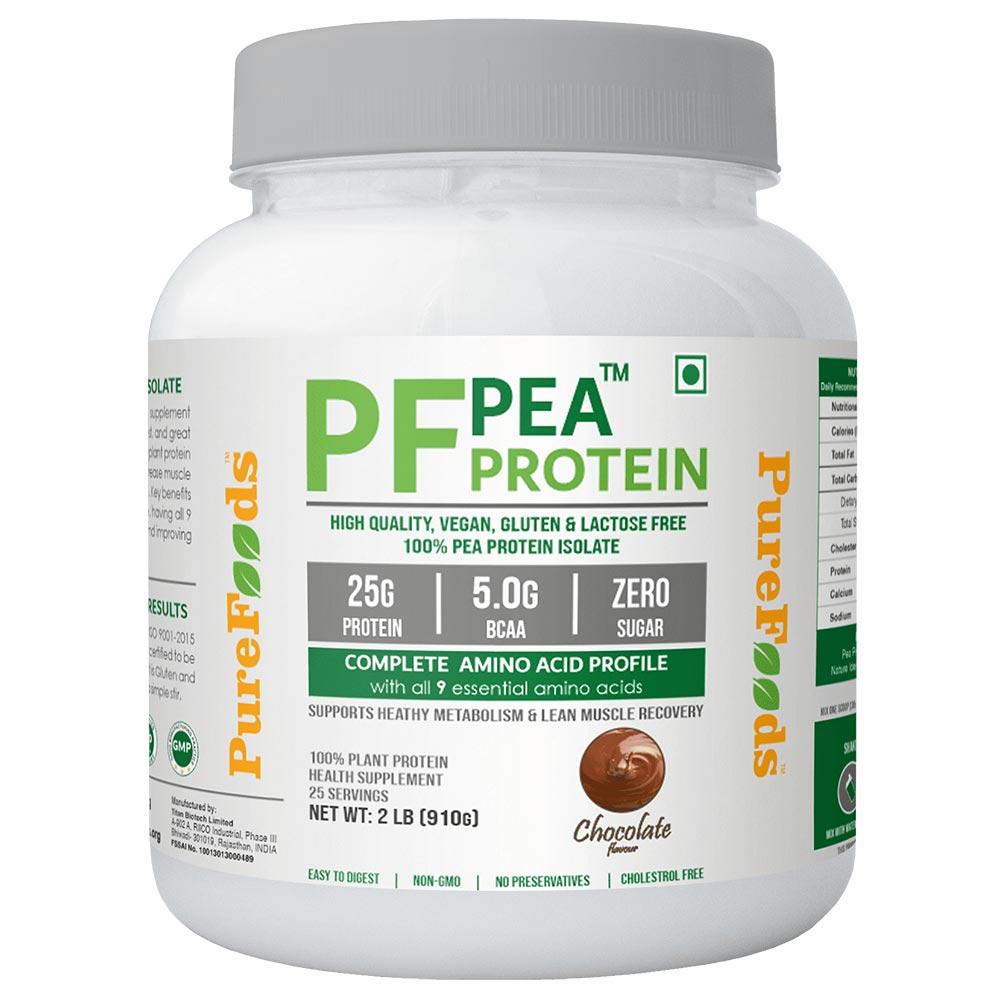 1 - PureFoods PF Pea Protein,  Chocolate  2 lb