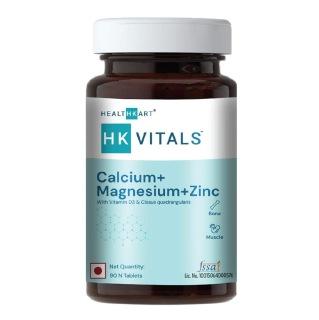 1 - HealthKart Calcium  with Mag Zinc & Vit D3,  90 tablet(s)  Unflavoured