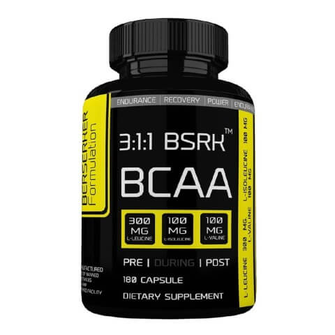 Berserker 3:1:1 BCAA,  180 capsules  Unflavoured