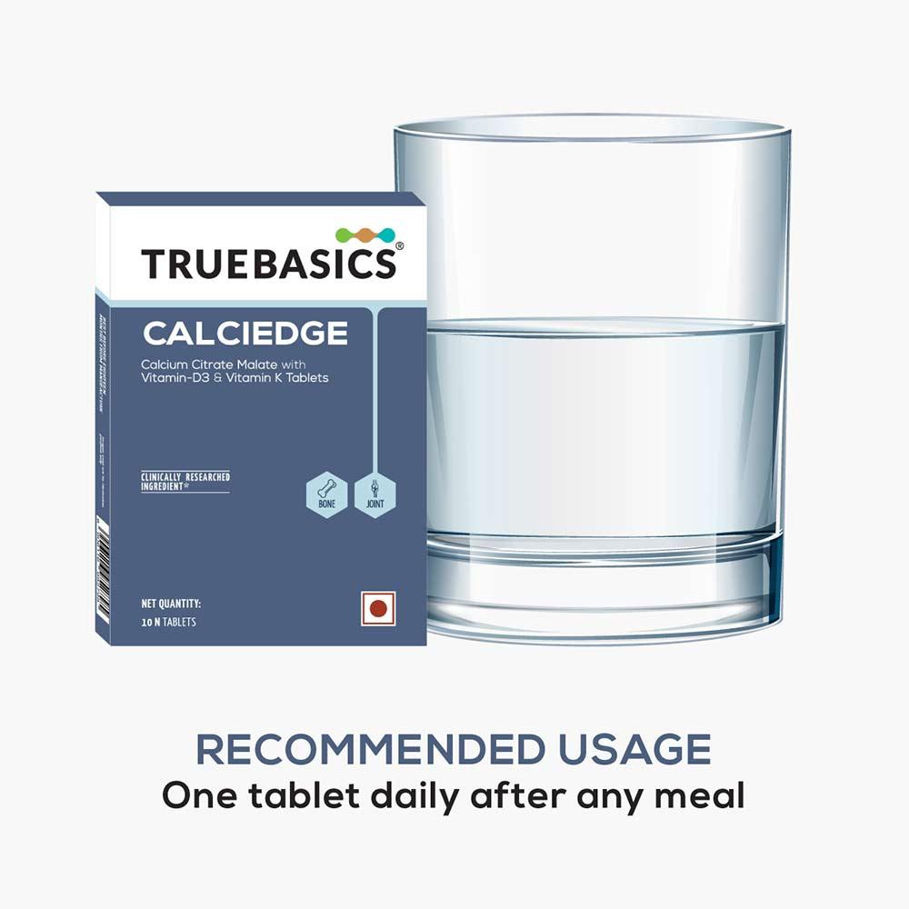5 - TrueBasics CALCIEDGE Blister Pack,  10 tablet(s)  Unflavoured