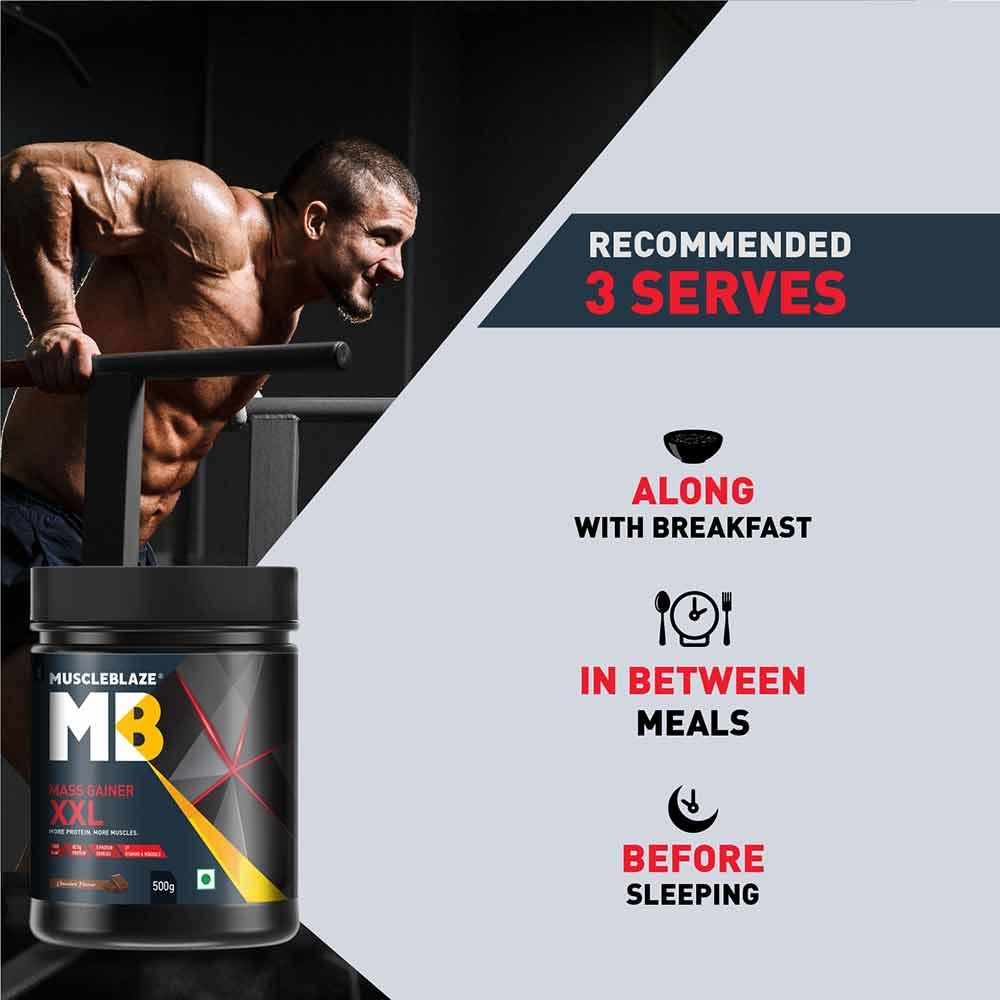 7 - MuscleBlaze Mass Gainer XXL,  1.1 lb  Chocolate