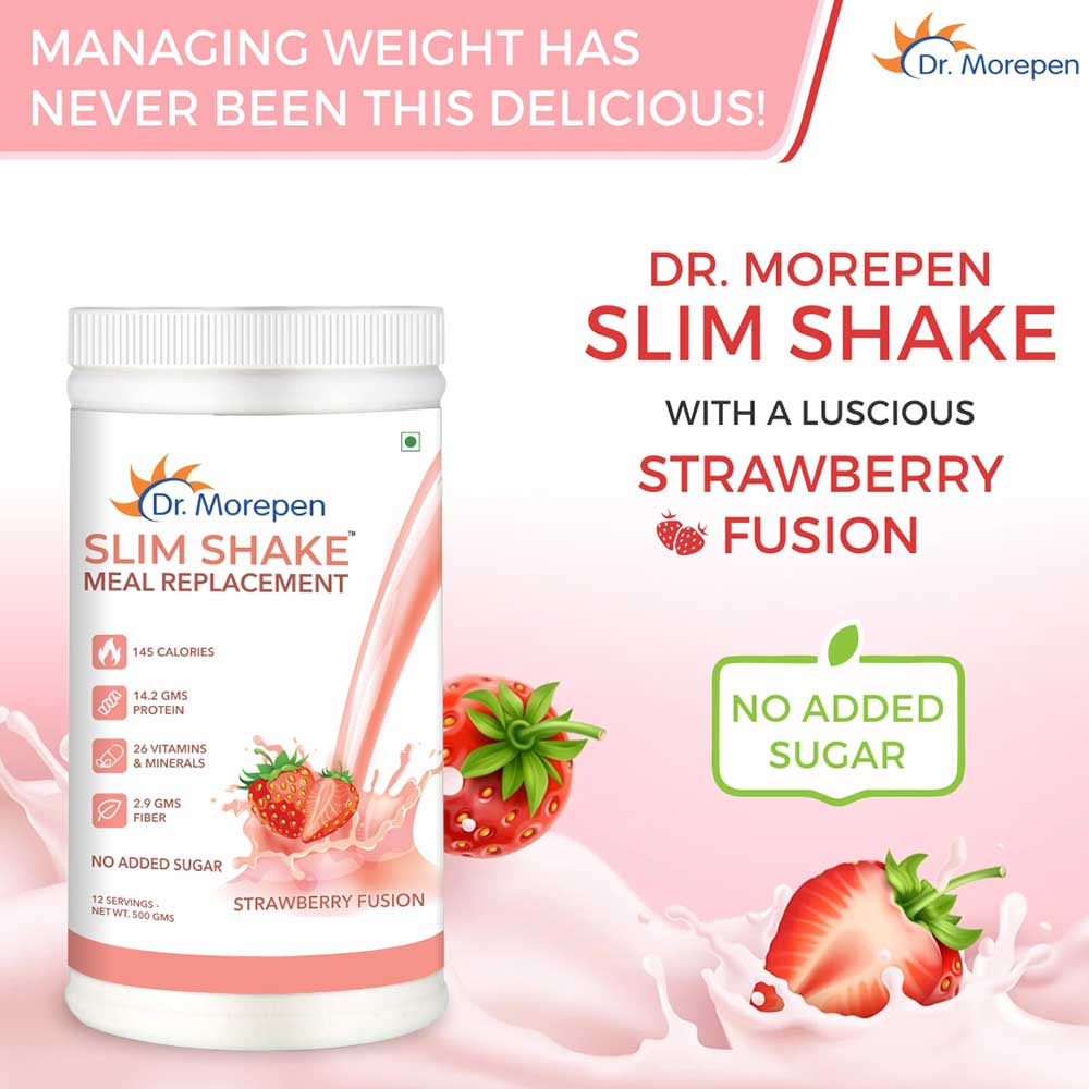 8 - Dr. Morepen Slim Shake 500g, Marine Collagen Skin Protein 240g, Muscle Food 100% Whey Protein 2.2lb Combo,  3 Piece(s)/Pack  Shake-Strawberry Fusion, Whey Protein-Double Chocolate