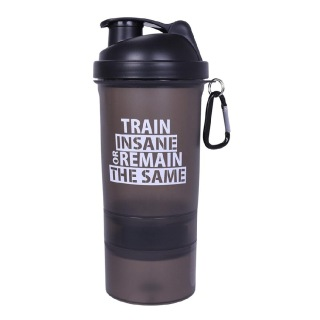 1 - GHC 3-Compartment Shaker Bottle,  Black  600 ml