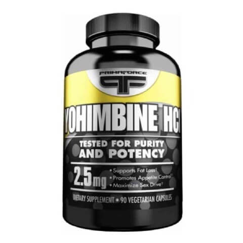 Primaforce Yohimbine HCL (2.5 mg),  90 capsules  Unflavoured