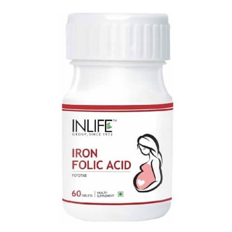 INLIFE Iron + Folic Acid,  60 tablet(s)