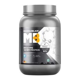 1 - MuscleBlaze Biozyme Whey Protein OP,  2.2 lb  Magical Mango