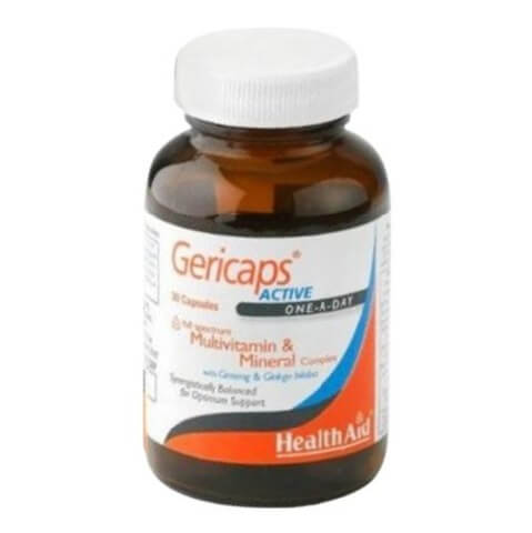 HealthAid Gericaps Active (with Ginseng & Ginkgo Biloba),  30 capsules