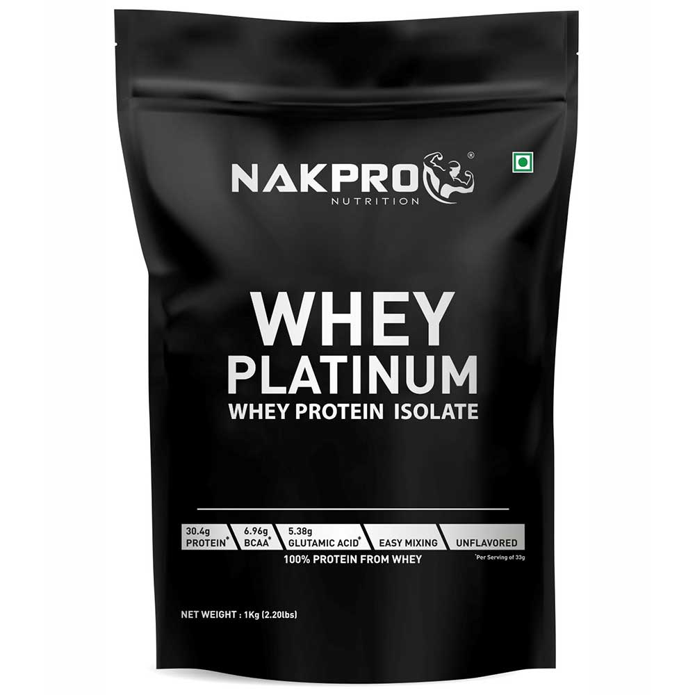 1 - Nakpro Whey Platinum Whey Protein Isolate,  2.2 lb  Unflavored