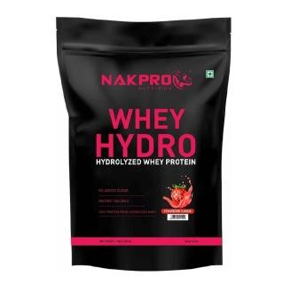 1 - Nakpro Whey Hydro Hydrolyzed Whey Protein,  2.2 lb  Strawberry