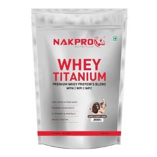 1 - Nakpro Whey Titanium,  2.2 lb  Cookies & Cream